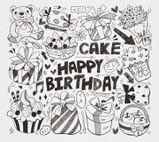Элемент дня рождения Doodle Стоковая Фотография RF