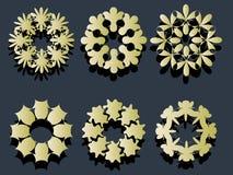 элемент 2 кругов иллюстрация вектора