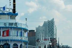 Эльба филармонический Hall в Гамбурге на Эльбе стоковые изображения rf