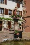 Эльзас, село Westhalten в Haut Rhin Стоковые Изображения
