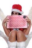 эльф рождества застенчивый Стоковые Изображения