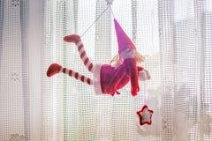 Эльф рождества как украшение Стоковое фото RF