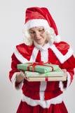 Эльф хелпера Santa Claus Стоковое Изображение RF