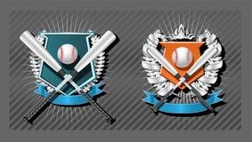 эмблема бейсбола Стоковое фото RF