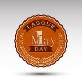 Эмблема вектора на День труда Стоковые Изображения