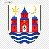 Эмблема города Дании иллюстрация вектора