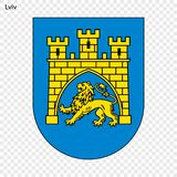Эмблема города Украины иллюстрация вектора