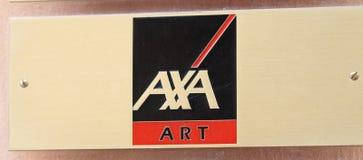Эмблема искусства страховой компании AXA стоковые изображения rf
