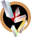 эмблема книг Стоковые Фотографии RF