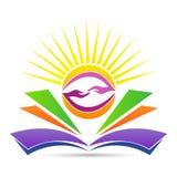 Эмблема образования для яркого дружелюбного знания деля логотип иллюстрация вектора