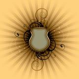 эмблема предпосылки пустая Иллюстрация вектора