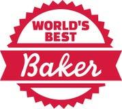 Эмблема хлебопека мира самая лучшая иллюстрация вектора