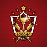 Эмблема чашки футбола Стоковая Фотография