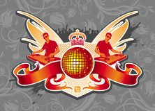 эмблема диско Стоковая Фотография