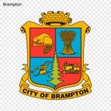 Эмблема Brampton иллюстрация штока