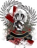 Эмблема grunge черепа Стоковая Фотография