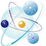 Эмблемы мирного атома в других цветах Стоковая Фотография RF