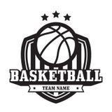 Эмблема баскетбола Стоковые Изображения RF