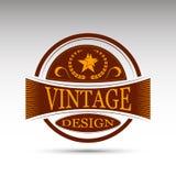 Эмблема вектора Конструкция год сбора винограда Стоковая Фотография