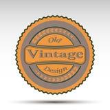 Эмблема вектора Конструкция год сбора винограда Стоковое фото RF
