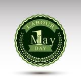 Эмблема вектора на День труда Стоковое Фото