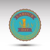 Эмблема вектора на День труда иллюстрация штока