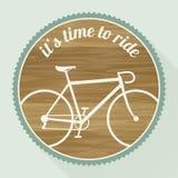 Эмблема велосипеда Стоковое Изображение RF