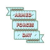 Эмблема вооруженных сил страны изолированная днем приветствуя Стоковое Изображение