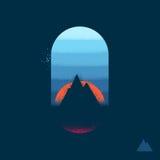 Эмблема горы Стоковые Фотографии RF