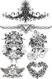 Эмблема гребня татуировки причудливая  Стоковые Фотографии RF