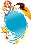 Эмблема лета Стоковые Фотографии RF