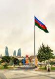 Эмблема 'игр Баку 2015' европейских в Баку Стоковая Фотография