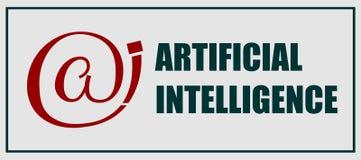 Эмблема искусственного интеллекта Стоковая Фотография
