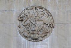 Эмблема или логотип Мексики в естественном камне Стоковые Фото