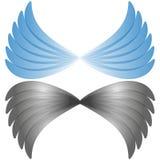 эмблема компании логотипа летания крыла вектора абстрактная иллюстрация штока