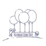 Эмблема дня учреждения Австралии изолировала иллюстрацию вектора на белой предпосылке Патриотический ярлык события праздника поло Стоковая Фотография