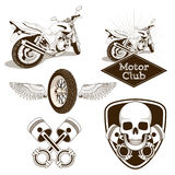 Эмблема логотипа клуба мотоцикла иллюстрация штока