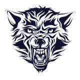 Эмблема, логотип, татуировка, голова волка Стоковое Фото