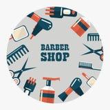 Эмблема парикмахерской Стоковые Фотографии RF