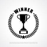 Эмблема победителя ретро Стоковая Фотография