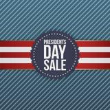 Эмблема президентов Дня Продажи реалистическая голубая США Стоковое Фото