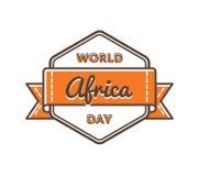 Эмблема приветствию дня Африки мира Стоковые Изображения