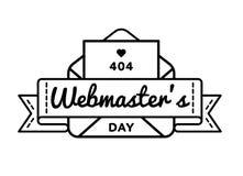 Эмблема приветствию дня вебмастеров мира Стоковые Изображения RF
