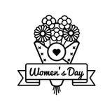 Эмблема приветствию дня женщин мира Стоковые Фото