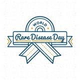 Эмблема приветствию дня заболеванием мира редкая Стоковые Фотографии RF