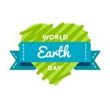 Эмблема приветствию дня земли мира Стоковые Фото