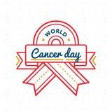 Эмблема приветствию дня Карциномы мира Стоковая Фотография RF