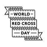 Эмблема приветствию дня Красного Креста мира Стоковая Фотография RF