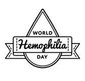 Эмблема приветствию дня кровоточивости мира Стоковая Фотография