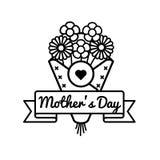Эмблема приветствию дня матерей мира Стоковое Изображение